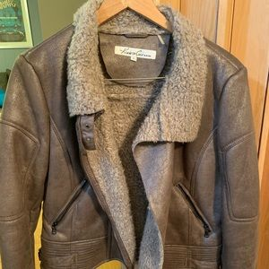 Fall jacket in brown with weathered look size L